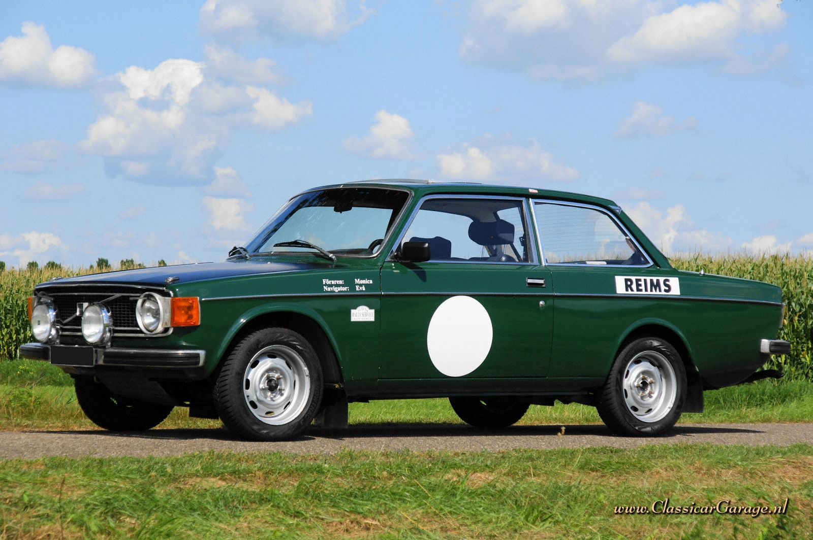 Volvo 142 S rally car, 1973 details